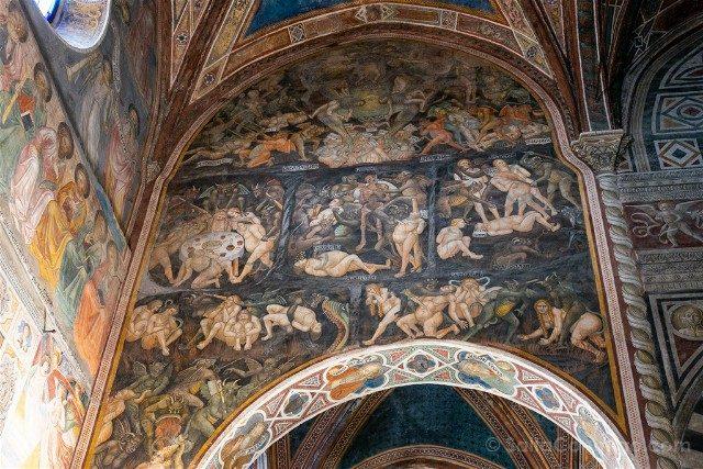 Que Ver en San Gimignano Colegiata Fresco Infierno