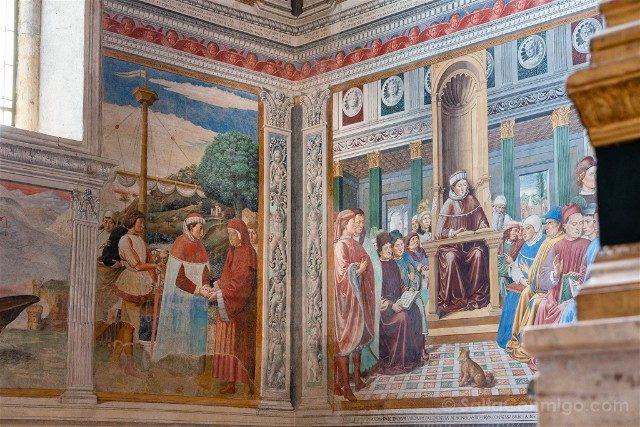 Que Ver en San Gimignano Iglesia San Agustin Frescos