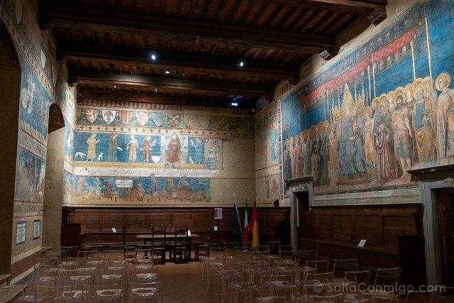 Que Ver en San Gimignano Palazzo Popolo Sala Dante