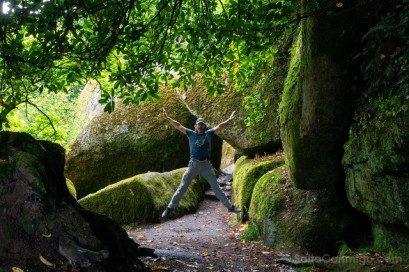 Bosque de Huelgoat Sendero Entrada Salto
