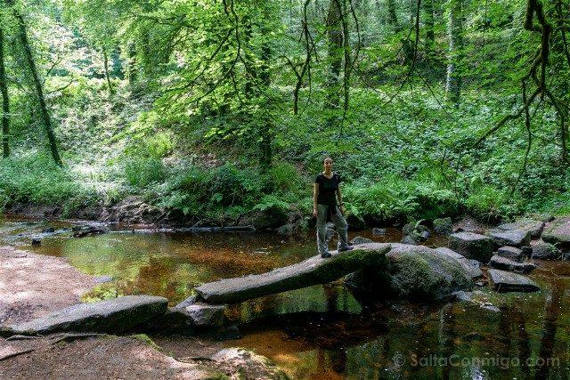 Bosque de Huelgoat Viejo Puente Rojo Sara