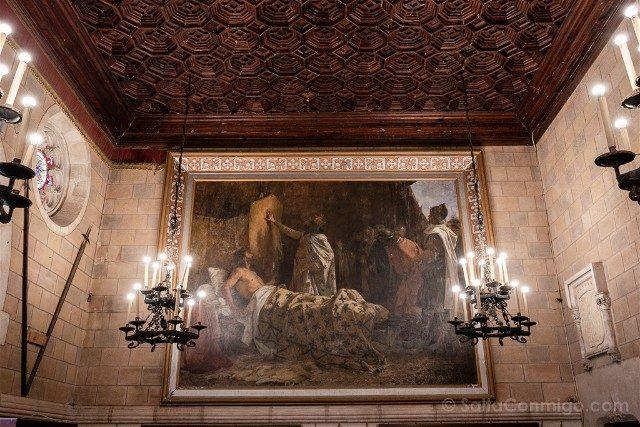 Castillo de Santa Florentina Salon Trono Barras Sangre