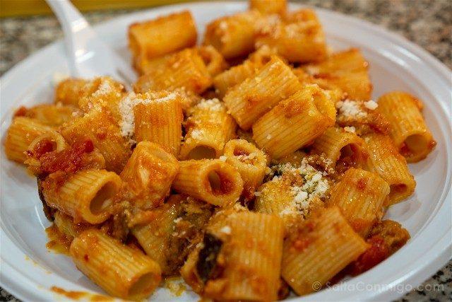 Donde Comer en Roma Zucchero Farina Berenjena