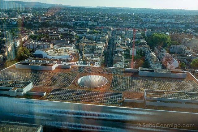 Que Ver en Basilea Arquitectura Contemporanea Herzog de Meuron Messe Basel Arriba