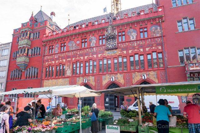 Que Ver en Basilea Marktplatz Mercado
