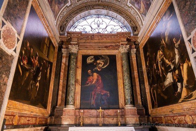 Que Ver en Roma Iglesia San Luis Franceses Caravaggio