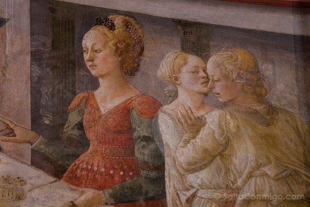 Que Ver en la Toscana Prato Catedral Detalle Fresco