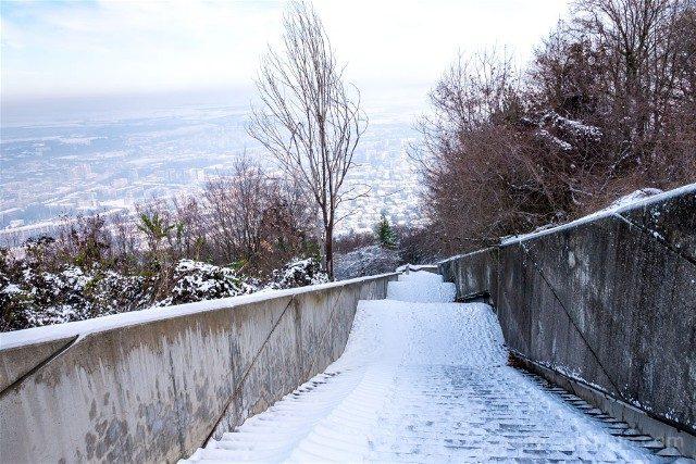 Monumento Fundadores Estado Bulgaro Shumen Escaleras
