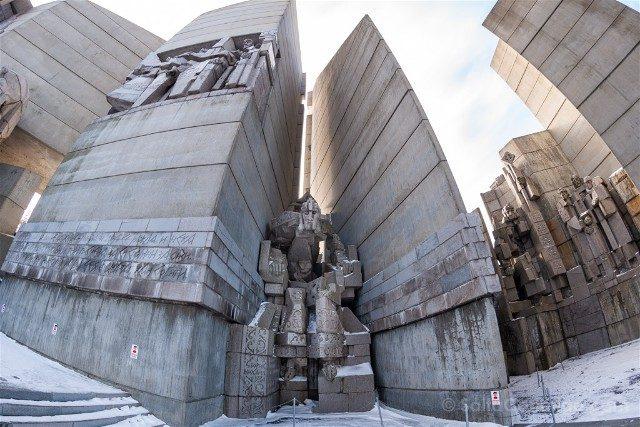 Monumento Fundadores Estado Bulgaro Shumen Kan Boris