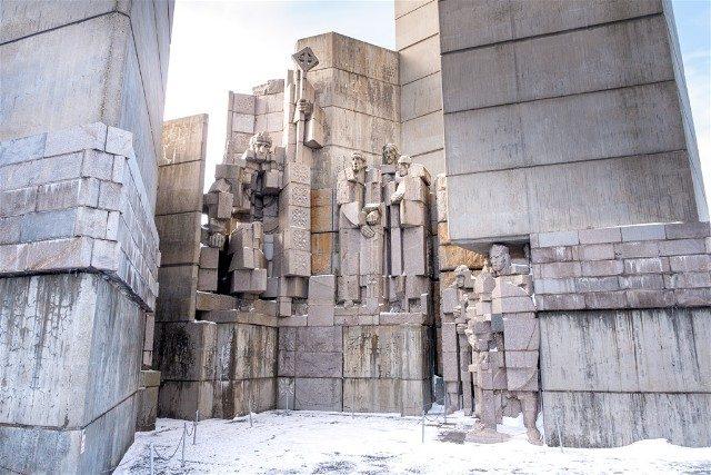 Monumento Fundadores Estado Bulgaro Shumen Kan Simeon Grande