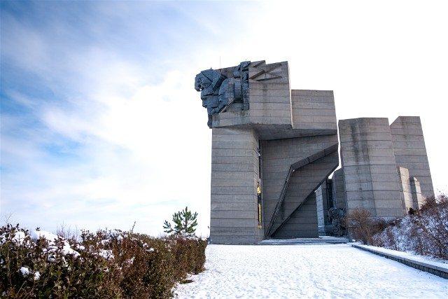 Monumento Fundadores Estado Bulgaro Shumen Leon Granito