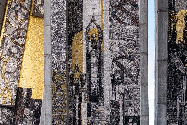 Monumento Fundadores Estado Bulgaro Shumen Mosaico Detalle