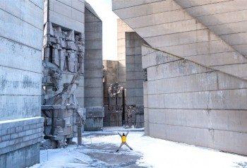 Monumento Fundadores Estado Bulgaro Shumen Salto