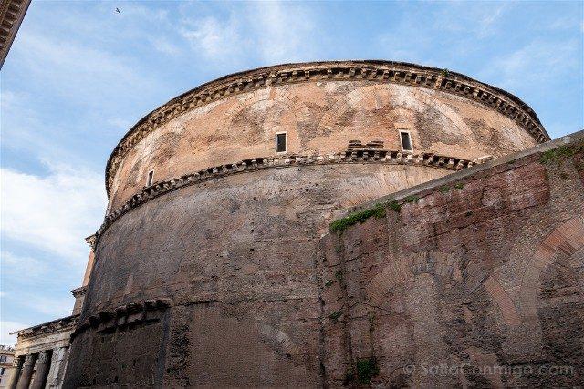 Panteon de Roma Exterior Cilindro Trasera