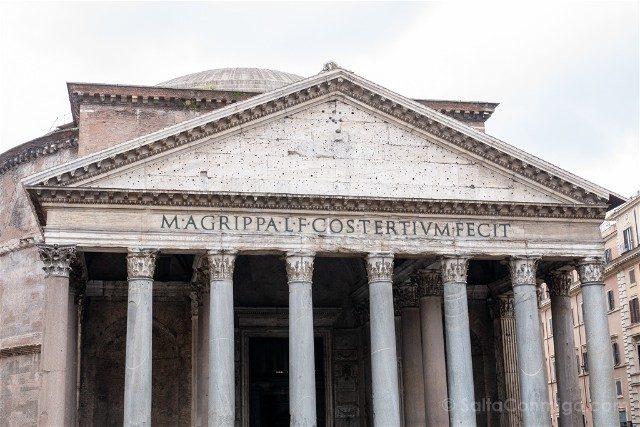 Panteon de Roma Exterior Inscripcion