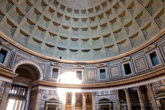 Panteon de Roma Interior Cupula Sol