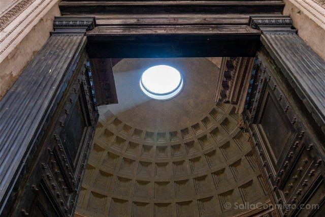 Panteon de Roma Interior Puerta Frente