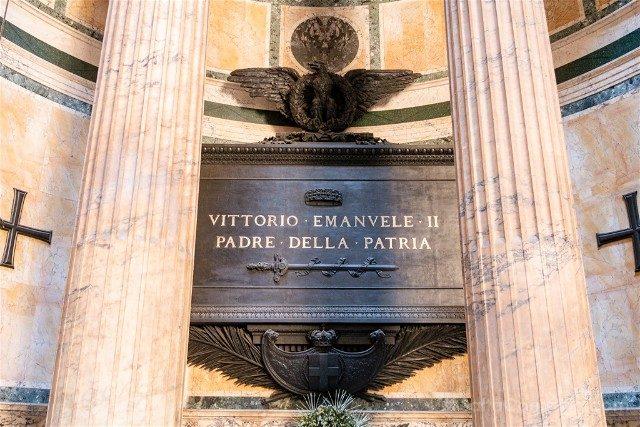 Panteon de Roma Interior Tumba Vittorio Emanuele II