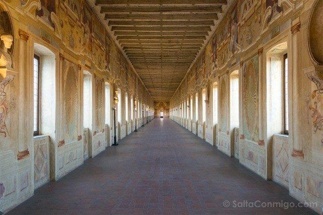 Que Ver en Sabbioneta Galleria degli Antichi Perspectiva