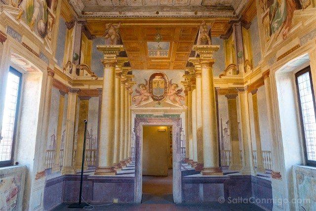 Que Ver en Sabbioneta Galleria degli Antichi Trampantojo