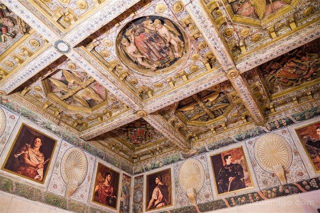 Que Ver en Sabbioneta Palazzo Ducale Techo