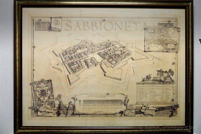 Que Ver en Sabbioneta Plano