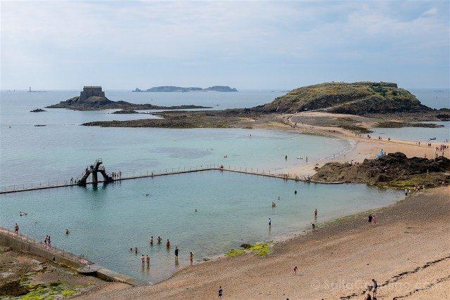 Que Ver en Saint-Malo Camino Ronda Playa Bon Secours Fuerte Grand-Be