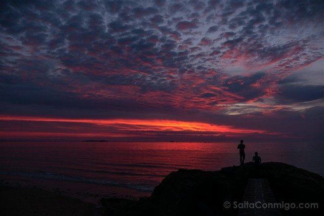 Puesta de Sol Playa Parame Saint Malo