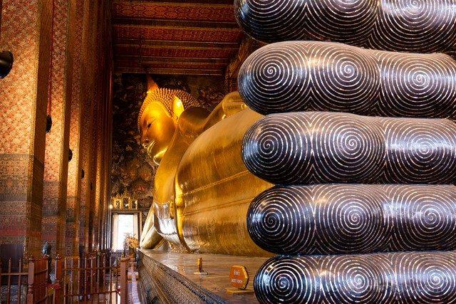 Bangkok Wat Pho Buda Reclinado