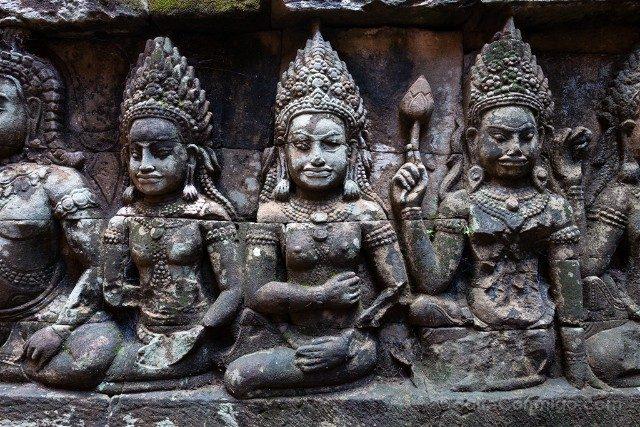 Camboya Templos Angkor Terraza Rey Leproso