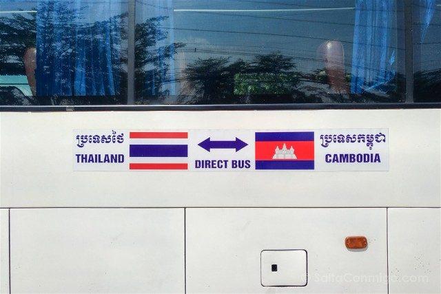 De Bangkok a Siem Reap Autobus Banderas