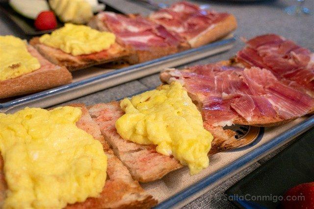 Donde Comer en la Provincia de Barcelona Hotel Torre Marti Desayuno