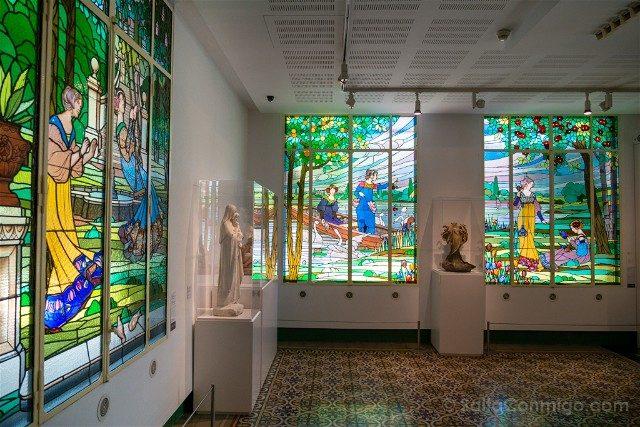 Modernismo Provincia Barcelona Cerdanyola Can Domenech Vidrieras