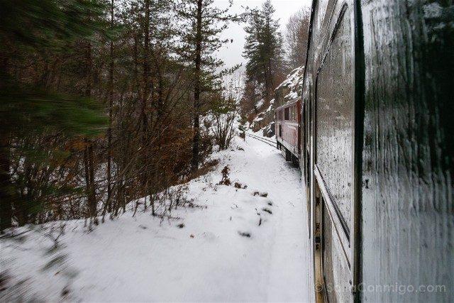 Que Ver en Bulgaria Tren Bansko Nieve