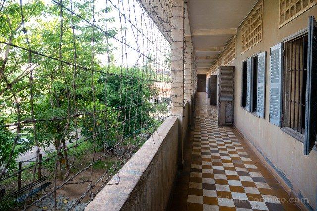 Que Ver en Nom Pen Museo Tuol Sleng S21 Vista Patio