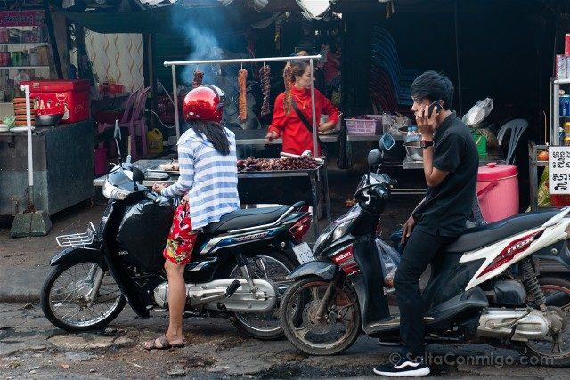 Sorpresas Camboya Comida Callejera