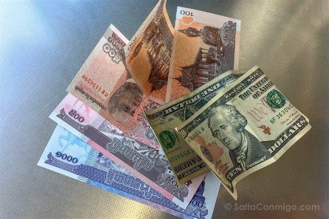 Sorpresas Camboya Dinero Riel Dolar
