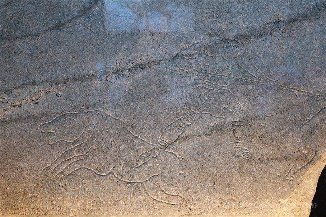 Coliseo de Roma Grabado Gladiador Fiera