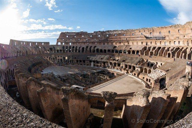 Coliseo de Roma Interior Ojo Pez