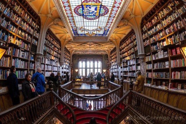 Libreria Lello Oporto Planta Alta Ojo Pez