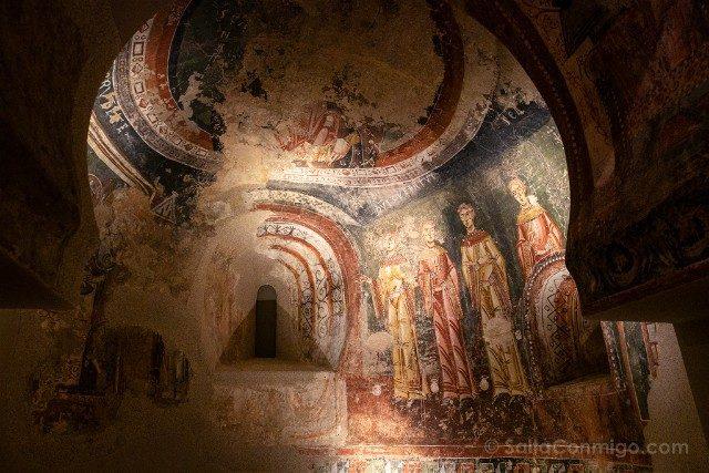 Romanico Barcelona MNAC Frescos Sant Quirze de Pedret