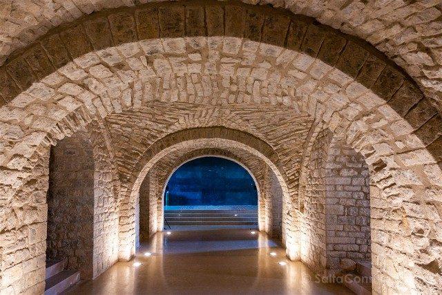 Romanico Barcelona Monasterio Sant Llorenc Cripta