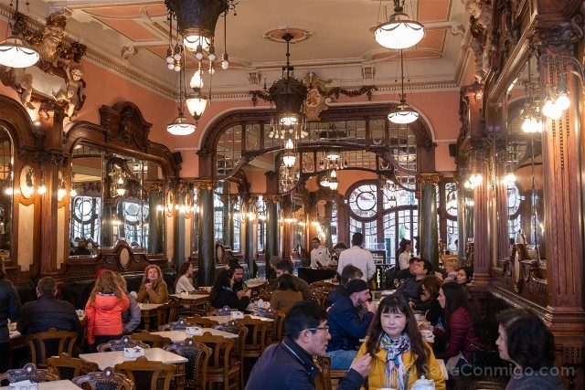 Comer en Oporto Cafe Majestic