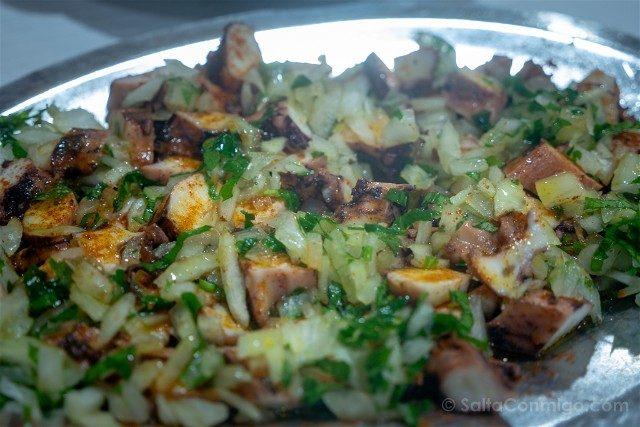 Comer en Oporto Escondidinho Barredo Pulpo