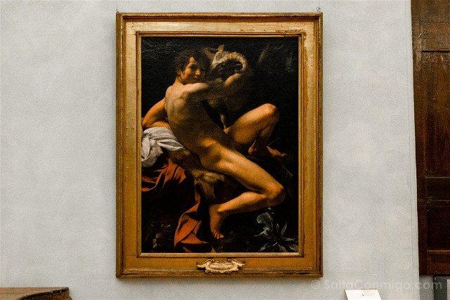 Museos Capitolinos Roma Caravaggio San Giovanni Battista