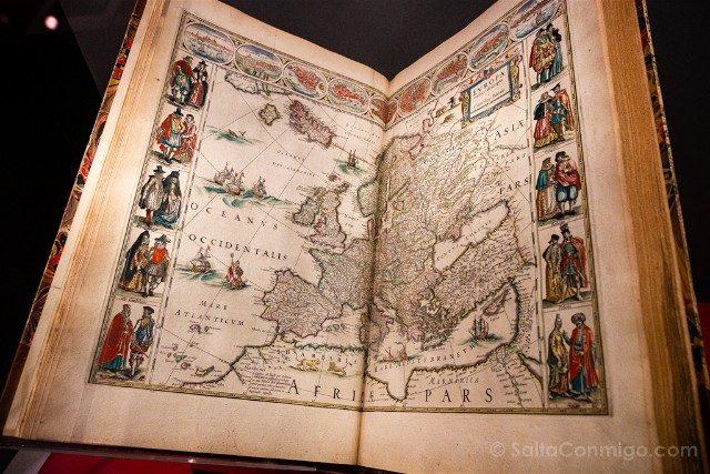 Museos de Dublin Chester Beatty Library Atlas 1648