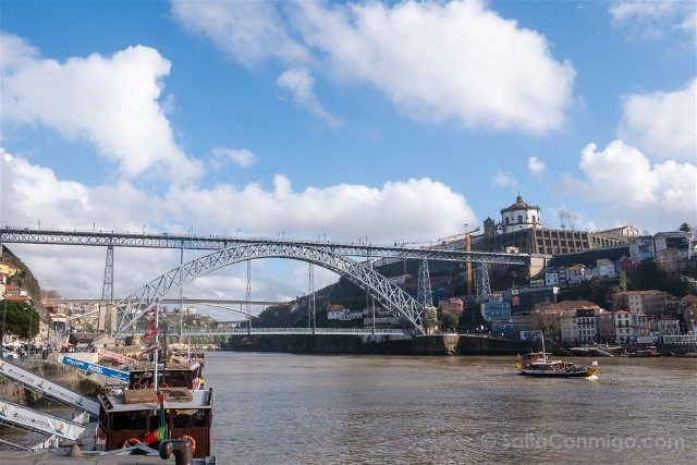 Que Ver en Oporto Cais Ribeira Puente Don Luis I