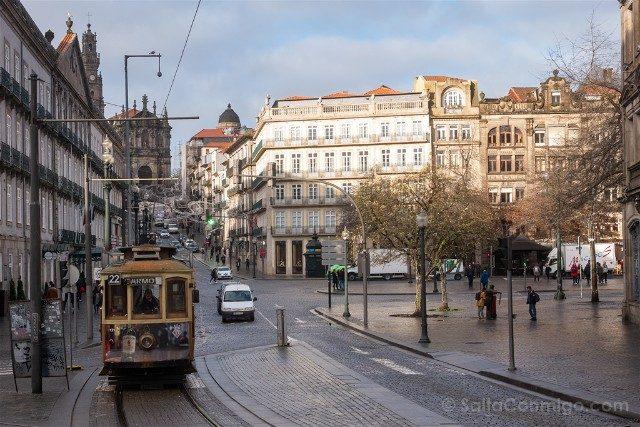 Que Ver en Oporto Plaza Liberdade Tranvia