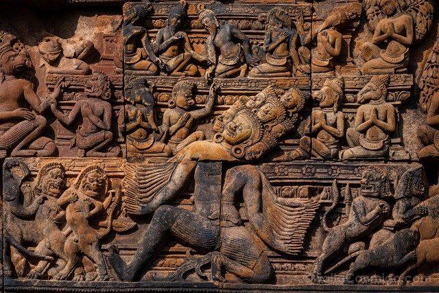Templos de Angkor Banteay Srei Relieve