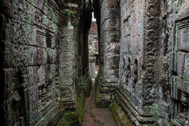 Templos de Angkor Preah Khan Pasillo